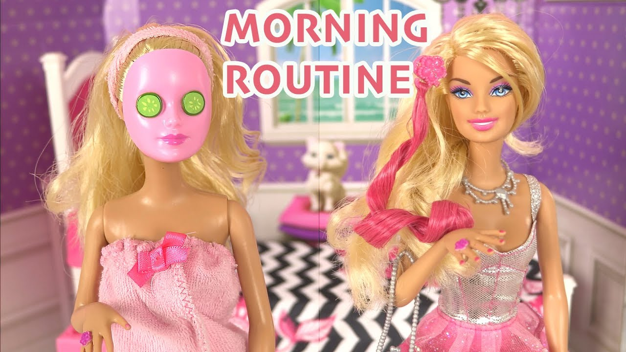 Routine Changing To Poupée Fab Morning Spa Barbie Color Makeup 4xqYf5wtw