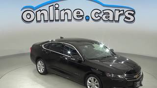 C10219TR Used 2017 Chevrolet Impala LT FWD 4D Sedan Black Test Drive, Review, For Sale
