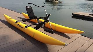 Easy to assemble and carry - Bikeboat Rec - Chiliboats Waterbike