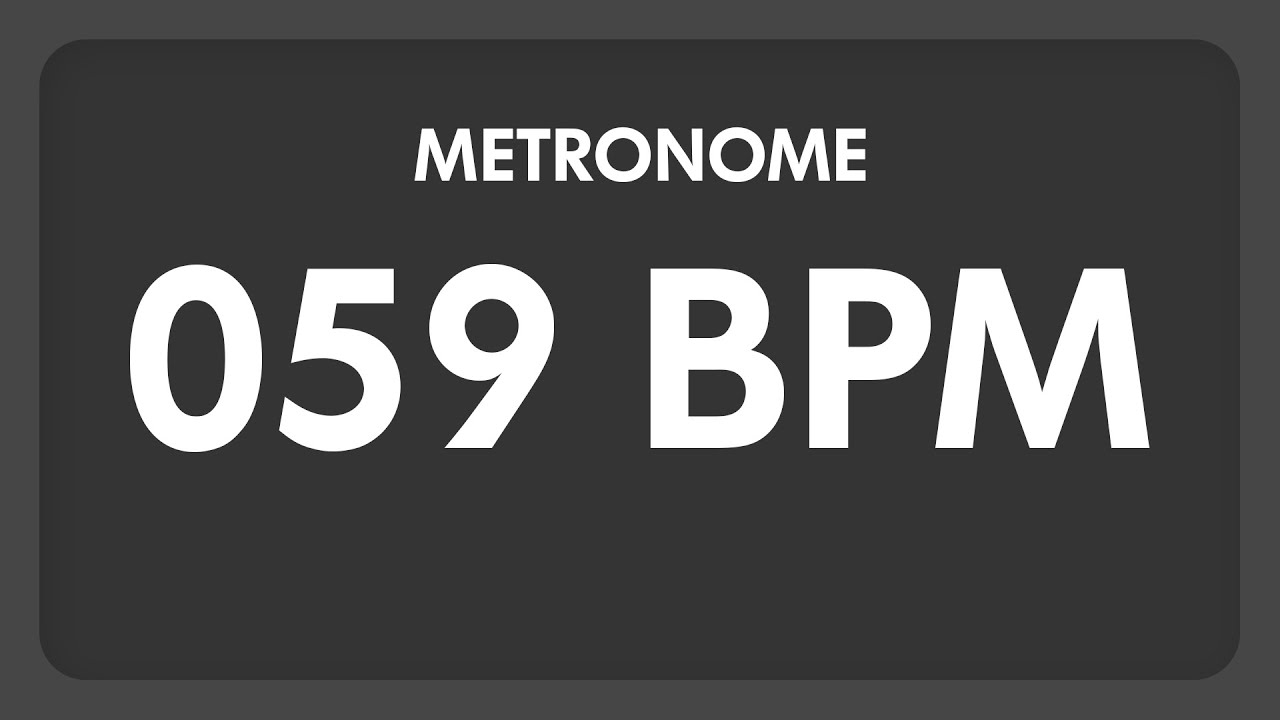 59 BPM - Metronome - YouTube