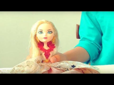 Видео для девочек: Варя делает прическу принцессе. Куклы Ever After High.
