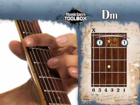 How To Play The Dm Barre Chord On Guitar Dm Bar Chord With The Root