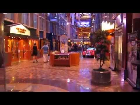 RCCL Liberty of the Seas Cruise Ship 2014 Promenade Tour