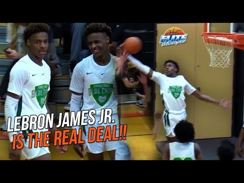 LeBron James Jr is LIVING UP To The HYPE! North Coast Blue Chips