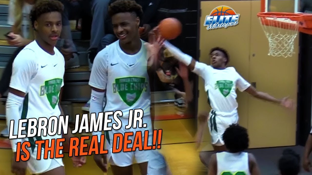 ef1d745843a LeBron James Jr is LIVING UP To The HYPE! North Coast Blue Chips ...
