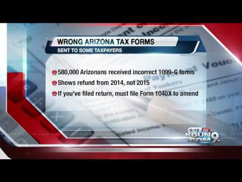 1099 form arizona  Arizona Department of Revenue: Some 17-G forms mailed with ...