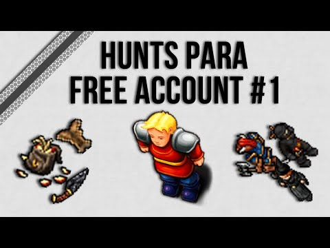 |Tibia| - HUNTS PARA FREE ACCOUNT #1 - MINTWALLIN E DARK CATHEDRAL