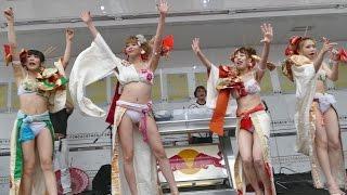 札幌を拠点に活動するパフォーマンスGirls集団Party Dollsが歩行者天国...