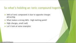 Melting Point Trends of Ionic Compounds