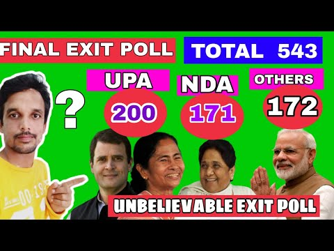 FINAL EXIT POLL- UPA 200, NDA 172, OTHERS 172 ||  WATCH AND SUBCRIBE THIS YOUTUBE CHANNEL