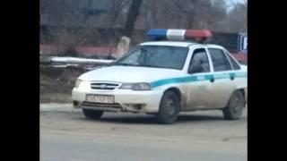 Капчагай №19. Машина ДПС ведет скрытое патрулирование. Разговор с инспектором.