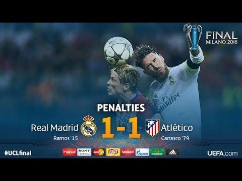 Реал Мадрид 1:1 Атлетико Мадрид (5:4 по пенальти) | Финал ЛЧ 2016 ОБЗОР HD