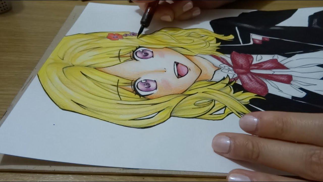 Wallpaper Neko Girl Drawing Yui Komori From Diabolik Lovers Youtube