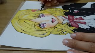Drawing Yui Komori from Diabolik Lovers
