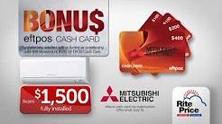 Mitsubishi Ducted & Split System Air Conditioning - Winter Cashback Promotion 2017