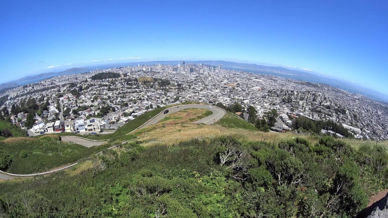 Christmas Tree Point   Twin Peaks   San Francisco   USA ...