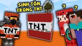 Rex Và Noob Thử Thách Lần Đầu Sinh Tồn Trong Block TNT Trong Minecraft !!