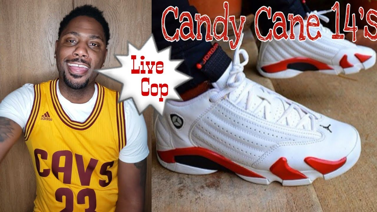 be35ce3c74f1 Air Jordan 14 Candy Cane Live Cop 2019! Footlocker and Champs - YouTube