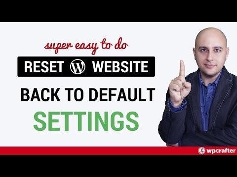 Reset wordpress theme