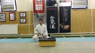 shikko kaiten 2 (knee walking with spin) [TUTORIAL] Aikido empty hand basic technique
