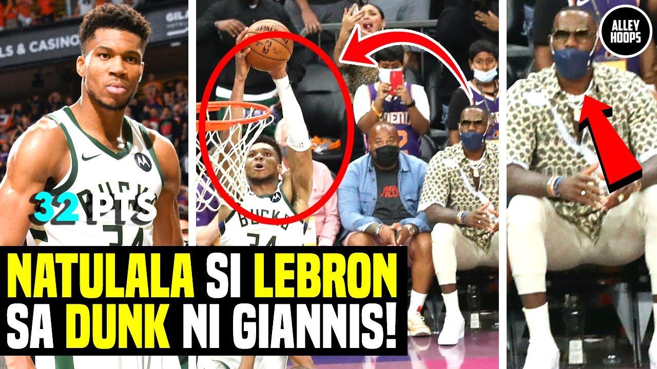 Lebron James NATULALA sa DUNK ni Giannis! Game Winning Alley Oop! Bucks vs Suns Game 5