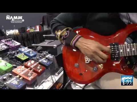 EBS Blue Label pedals - on guitar