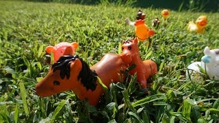 Домашние животные для детей. На ферме. Развивающий мультфильм для детей. Серия 6. Часть 1.