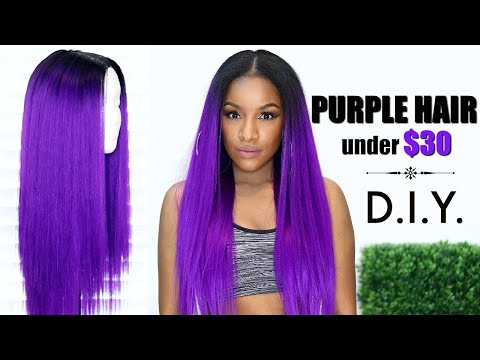 I Made This Wig in 30 Minutes! Easy DIY Purple Hair Under $30