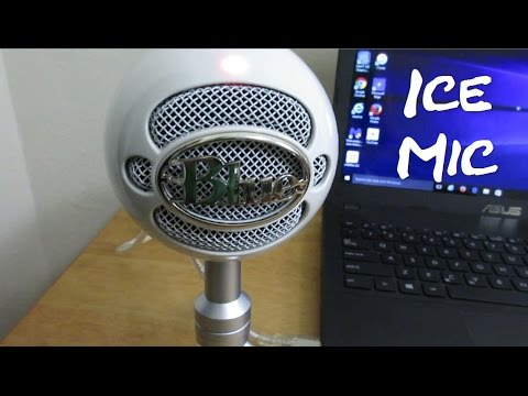 Blue Snowball ICE MIC Unboxing + Up Close Microphone Test & Review - YouTube Mic ?