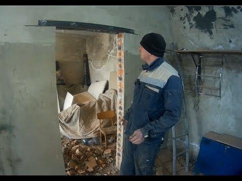 Как сделать дверной проем в бетонной стене своими руками