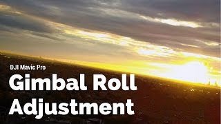 DJI Mavic Pro Tutorial Camera Roll Adjustment