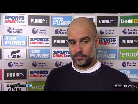 Newcastle 2-1 Man City | Pep Guardiola speaks after his side fall behind in title race