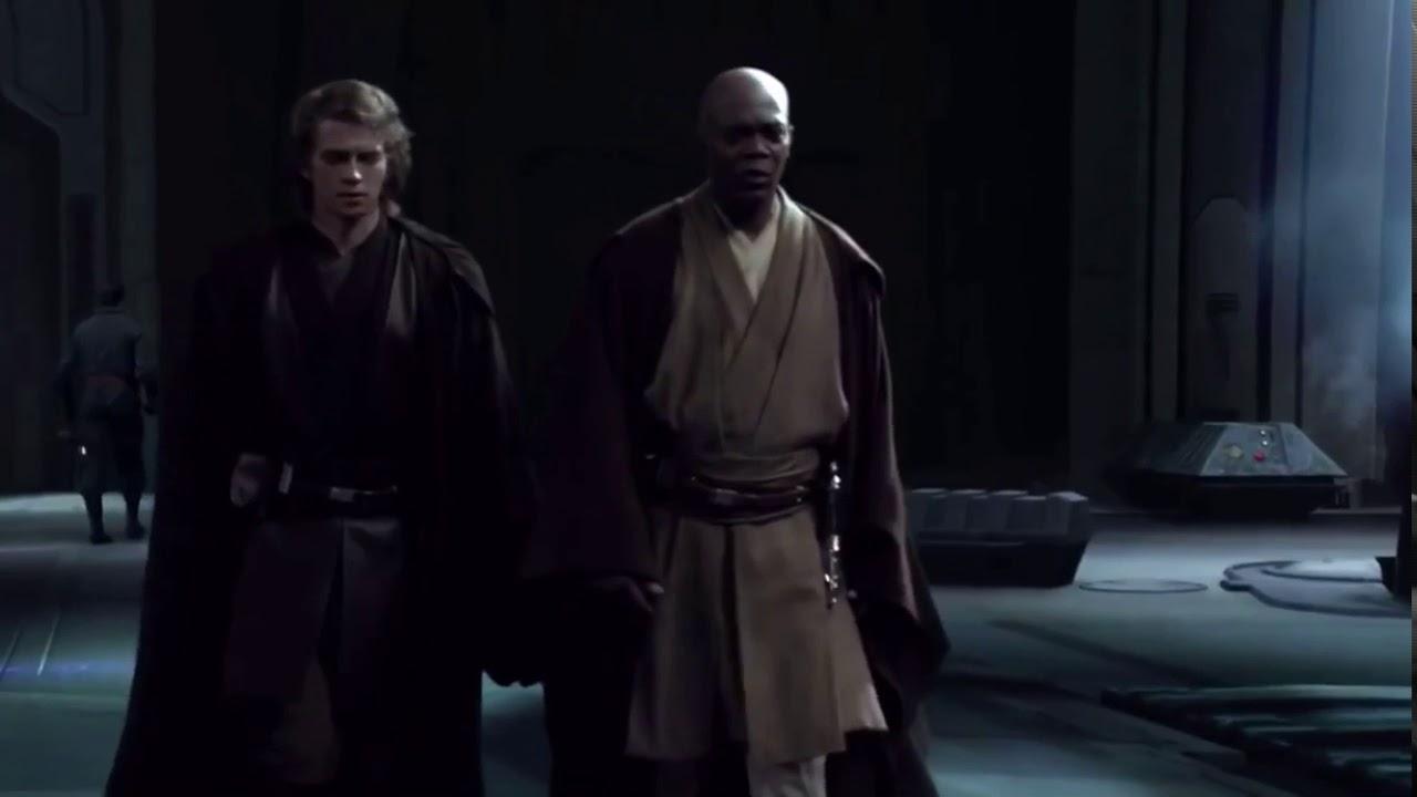 Anakin Tells Mace Windu About Palpatine Revenge Of The Sith Youtube