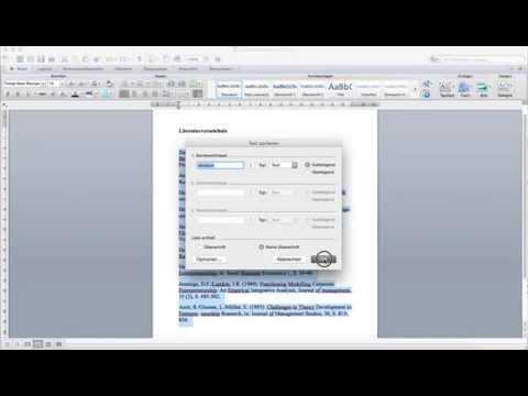 Literaturverzeichnis in Word alphabetisch sortieren from YouTube · Duration:  37 seconds