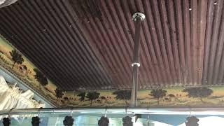 Barn tin ceiling