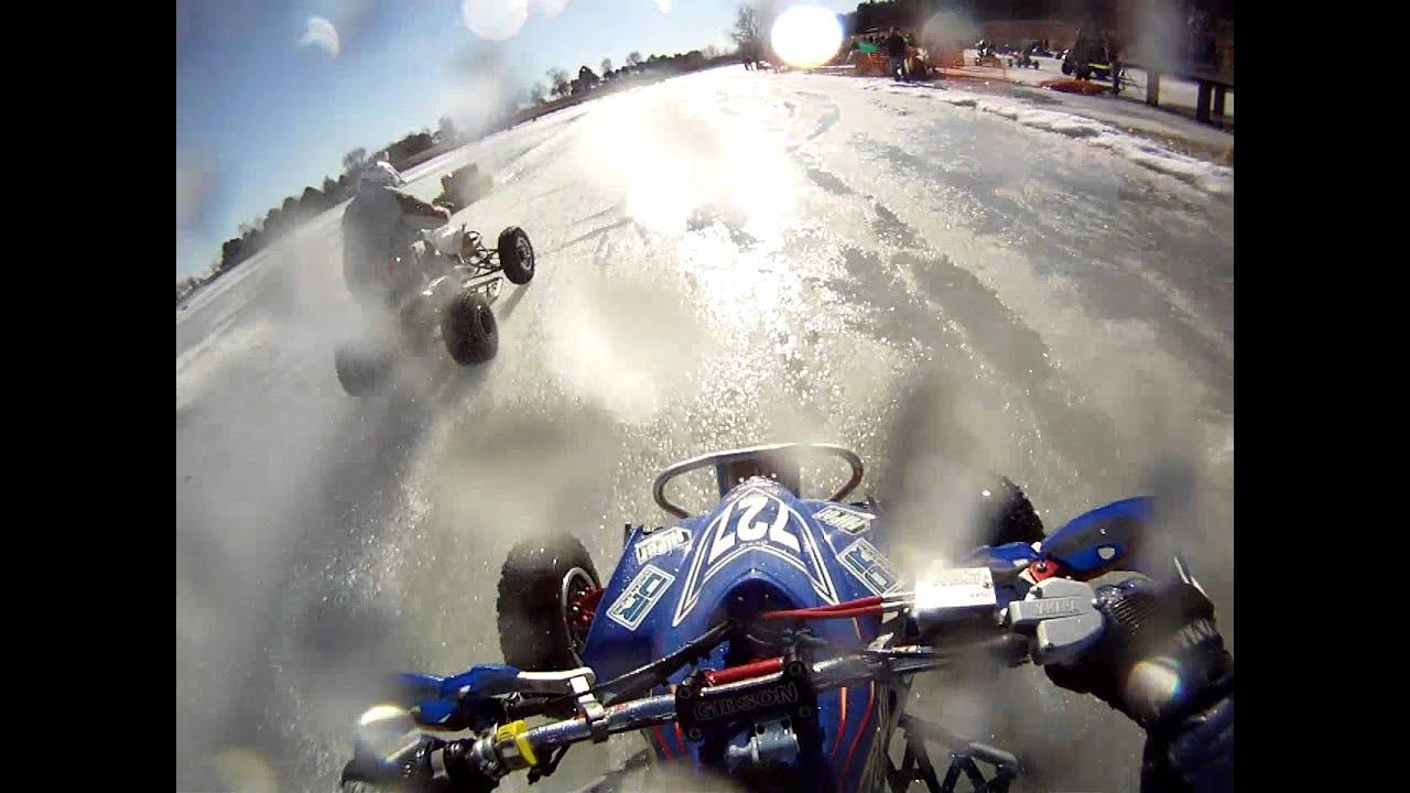2013 ATV quad Ice Racing 450 Pro Class - Algona, Iowa