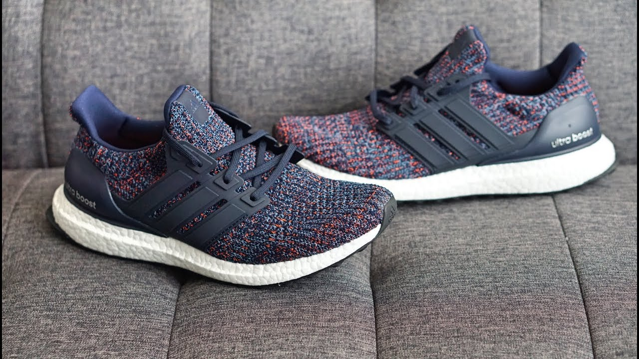 43bd0121a272b Review  Adidas Ultra BOOST 4.0 (Navy Multi-Color) BB6165 - YouTube
