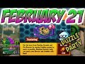 PvZ Heroes: Daily Challenge 02/21/2018 (February 21) – Puzzle Party [Feb 21]
