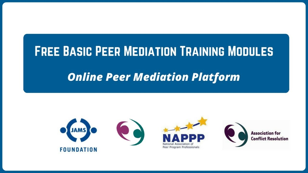 Free Basic Peer Mediation Training Modules - Online Peer Mediation Project
