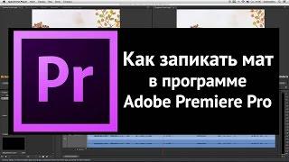 Как запикать мат в видео в программе Adobe Premiere Pro. Урок.
