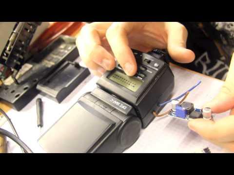 BitBastelei #135 - DSLR-Blitz: Fehlersuche, Akku-Umbau & Vergleich