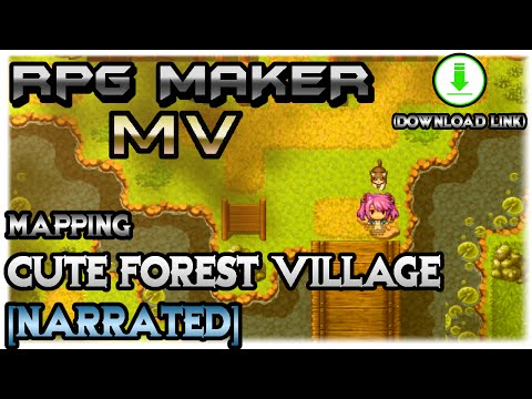 RPG Maker MV Mapping: Cute Forest Village [NARRATED]