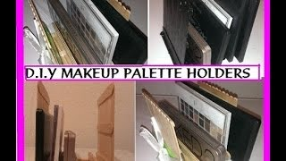 Diy: Makeup Palette Organizer/holders Using Popsicle Sticks (will Fit Any Palette)