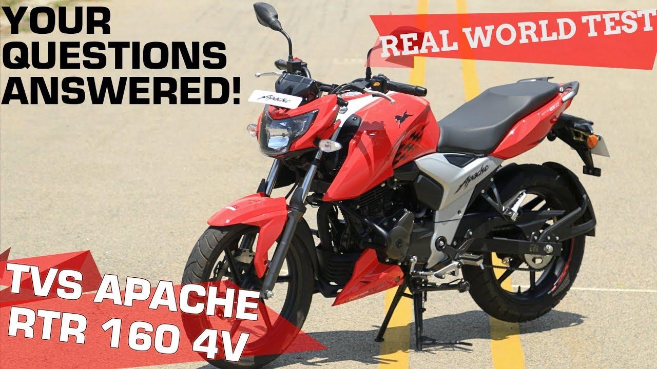 TVS Apache RTR 160 4V - Real World Road Test | ZigWheels com