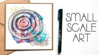 How To Make Small Scale Abstract Art For Cards – Part 1