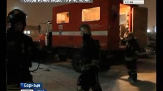 В Барнауле произошёл крупный пожар