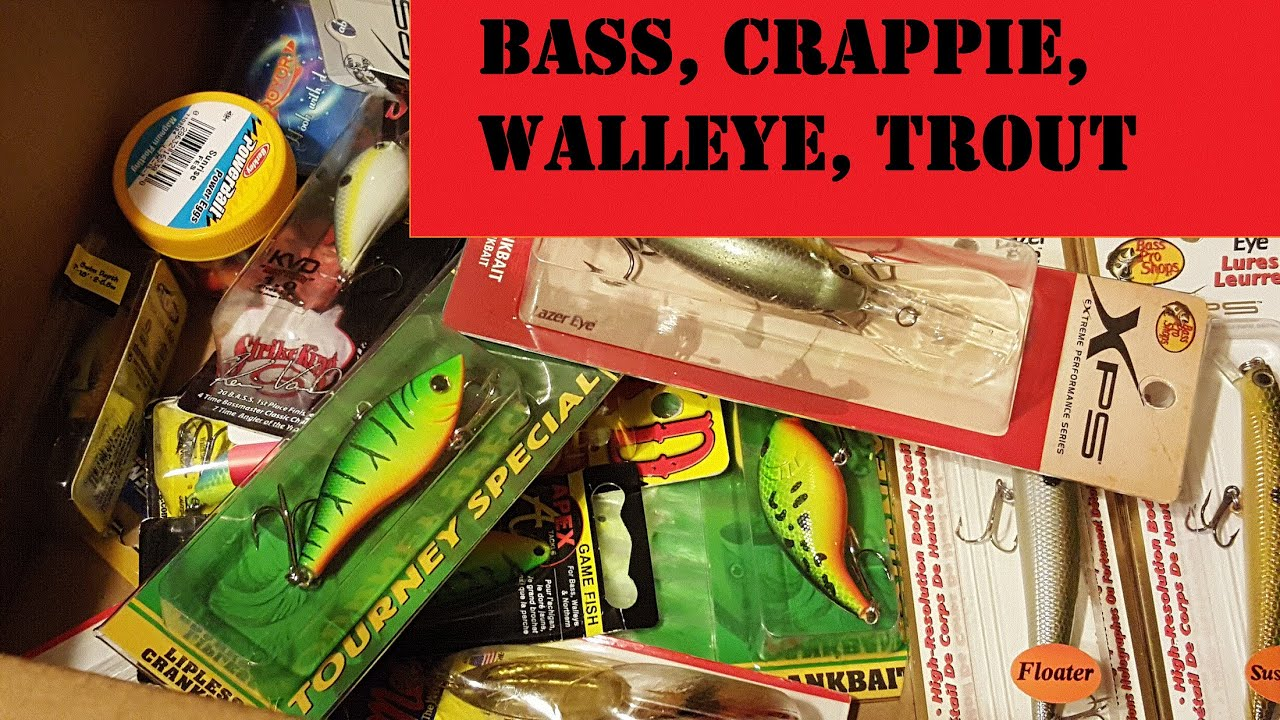 Bass pro shop unboxing fishing lures and tackle 2016 for Bass pro fishing lures
