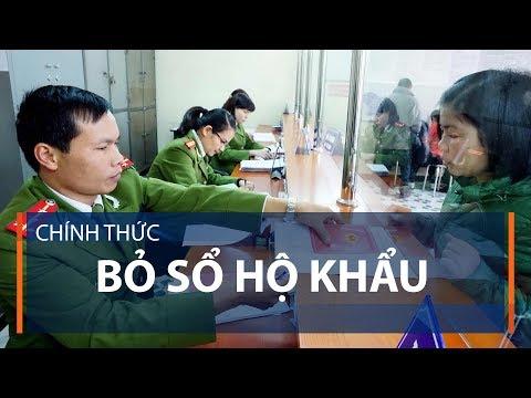 Chính Thức Bỏ Sổ Hộ Khẩu | VTC1