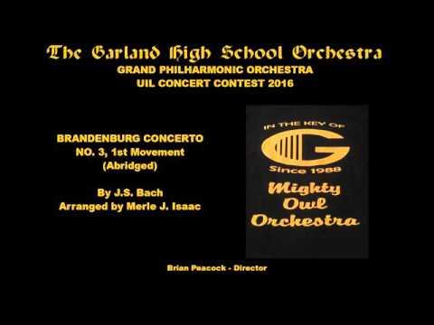 Bach/Isaac: Brandenburg Concerto No. 3, First Movement (Abridged) - Garland HS Orchestra