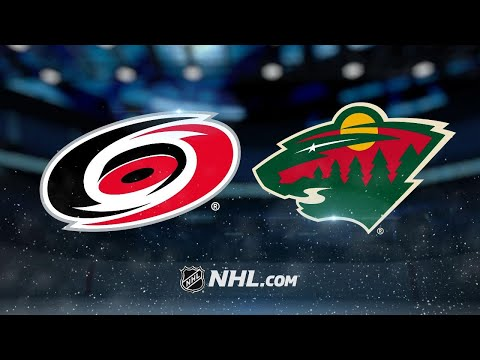 Wild score four goals in 3:28 in win vs. Hurricanes